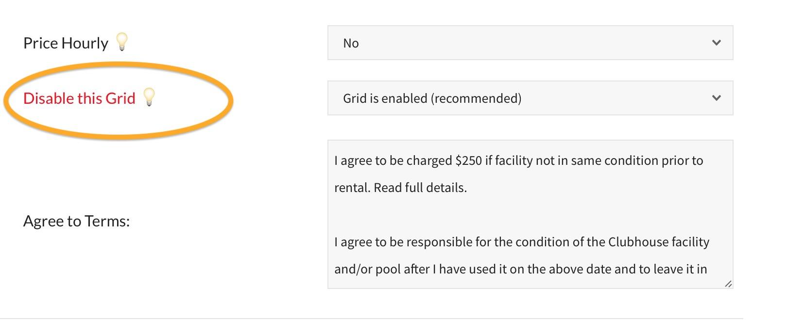 pooldues disable facility facilities grid