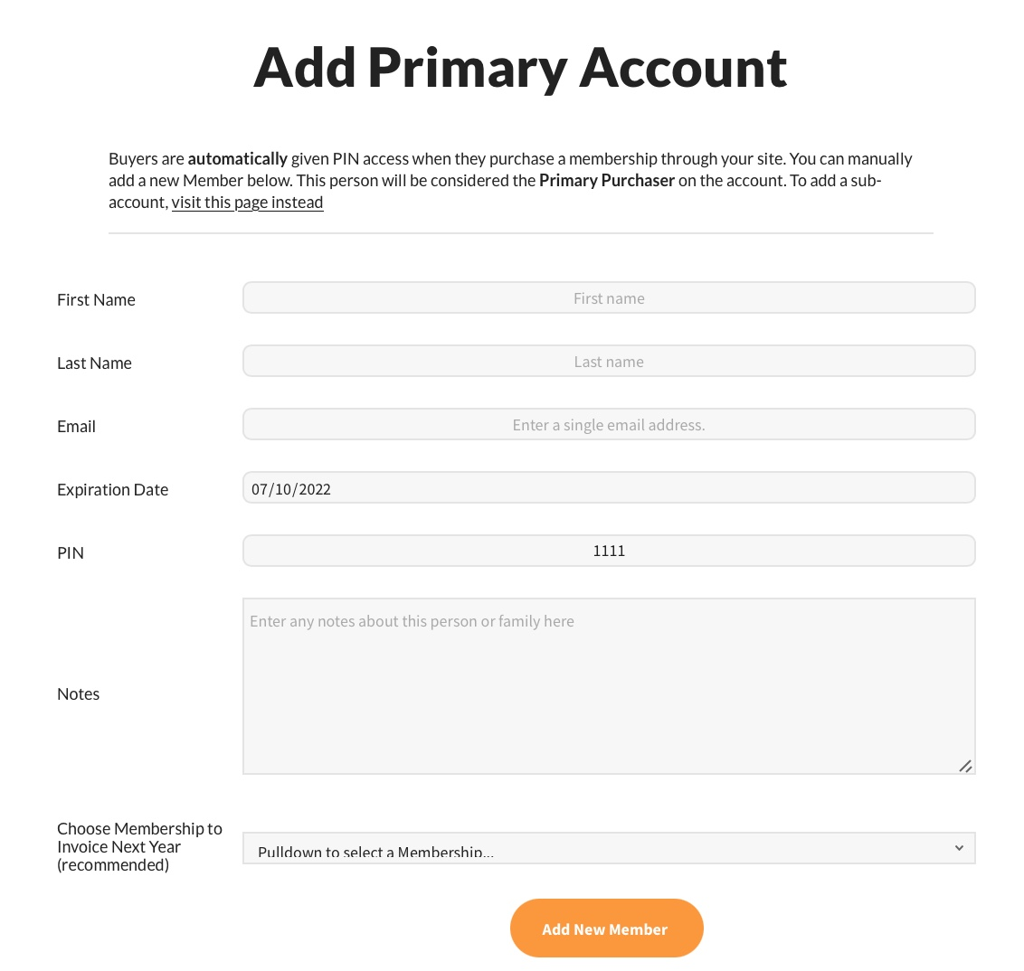 add primary account member