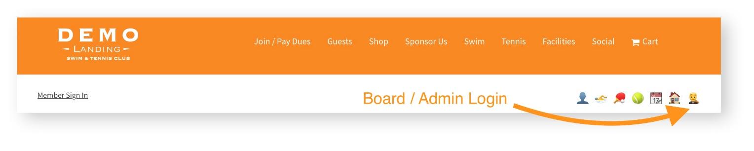 pooldues-board-member-login-top-bar-markup