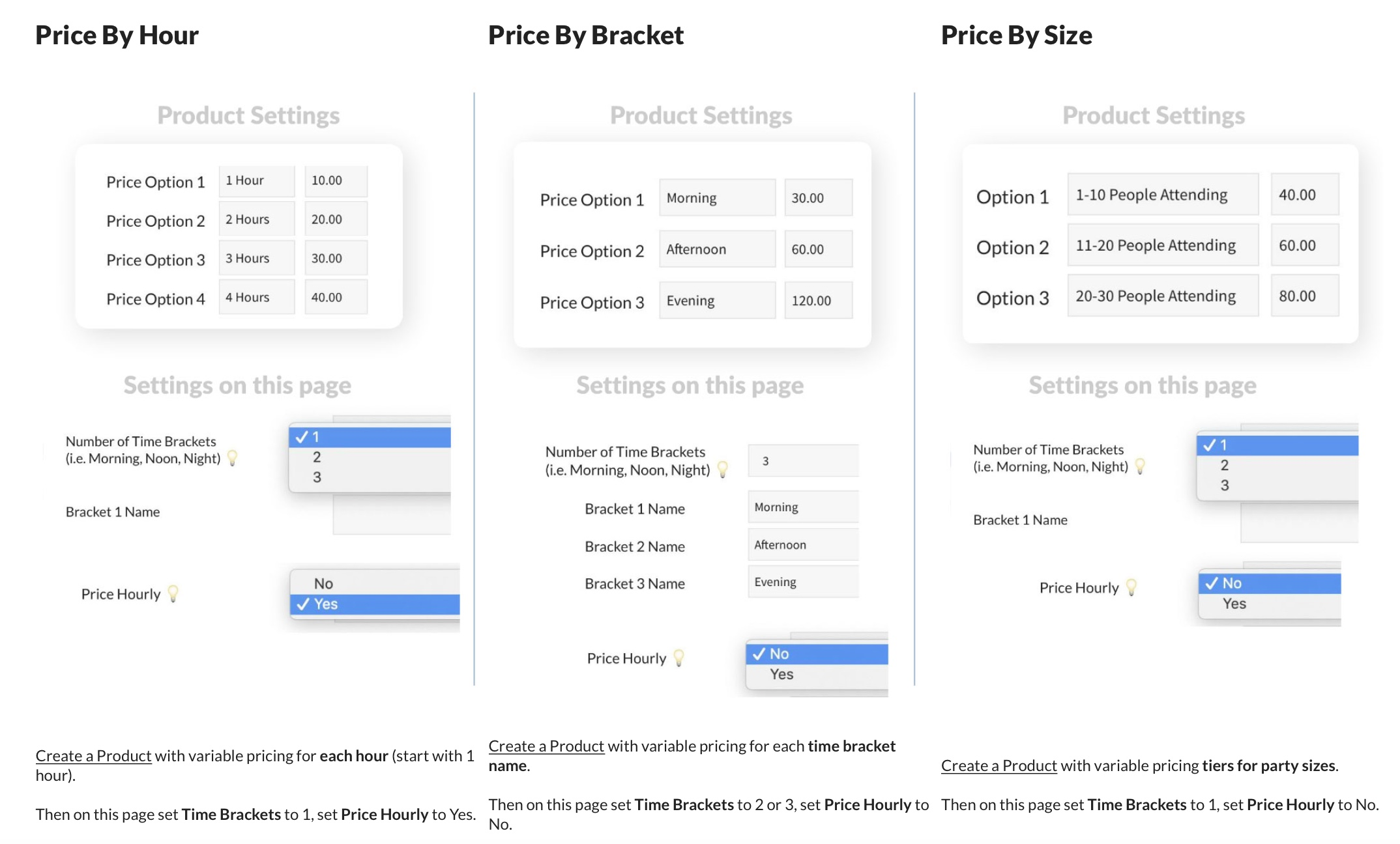 pooldues facility settings pricing options