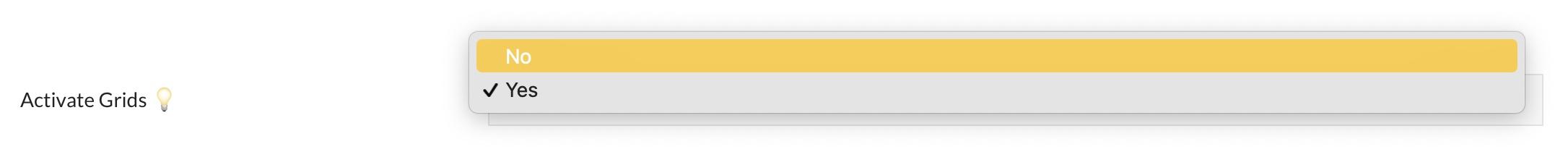 pooldues settings top bar activate grid