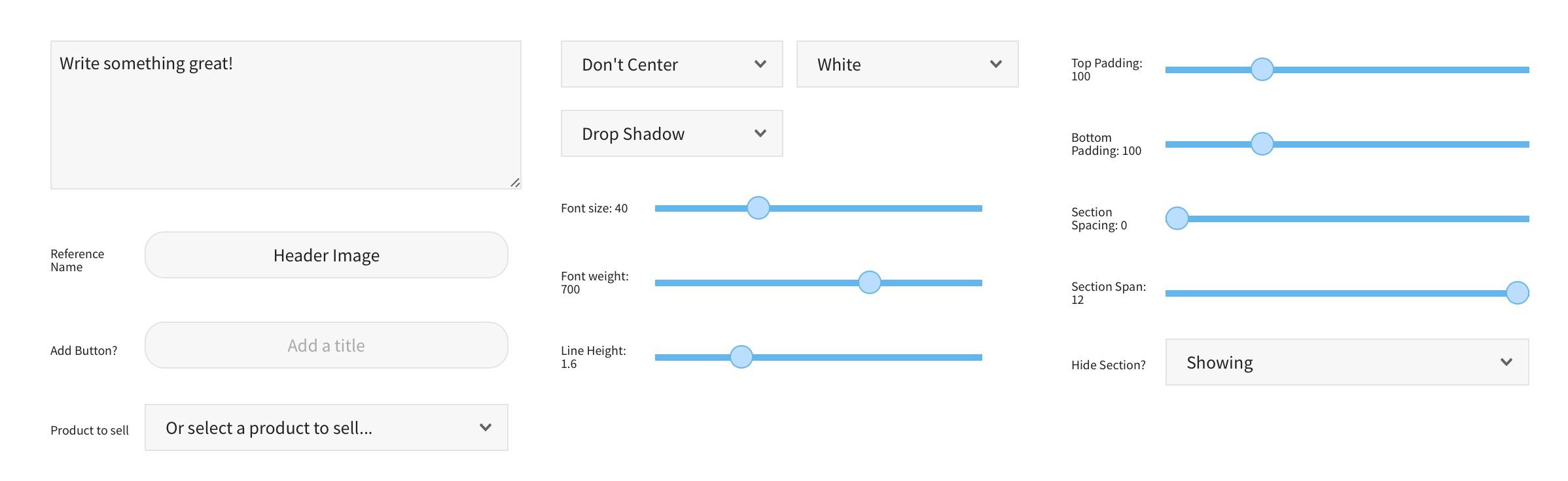 pooldues sections basic block settings